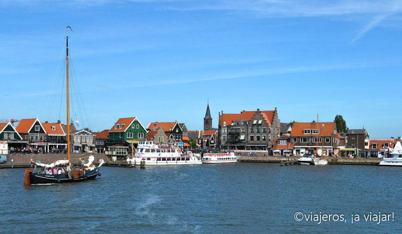 Llegando a Volendam desde Marken. Edam
