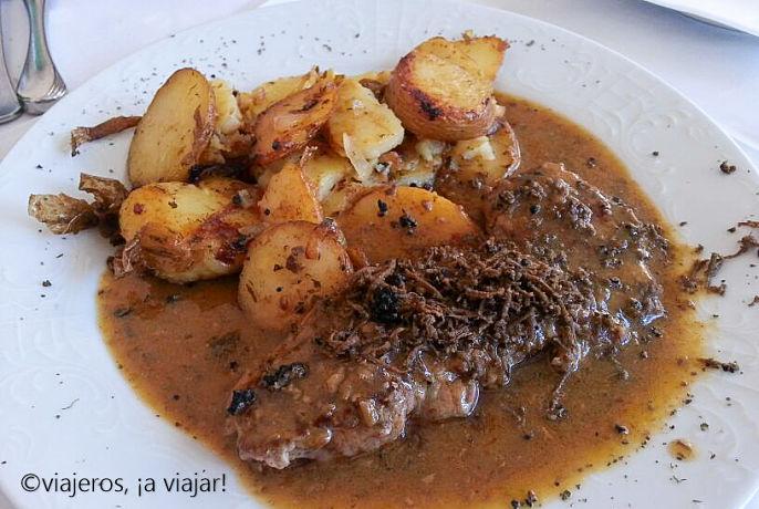 Croacia. Carne con trufa