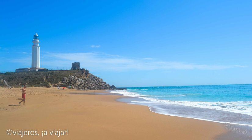Playas Estrecho. Faro de Trafalgar