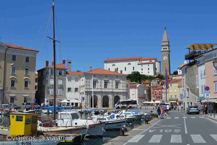 Puerto de piran en Istria
