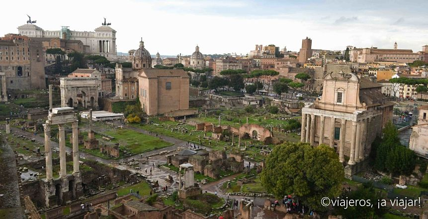Vistas al Foro. Viaje Roma y campania