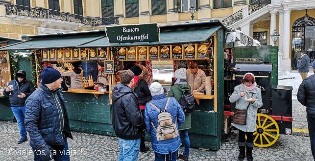 Mercados navideños en Viena. Schönbrunn
