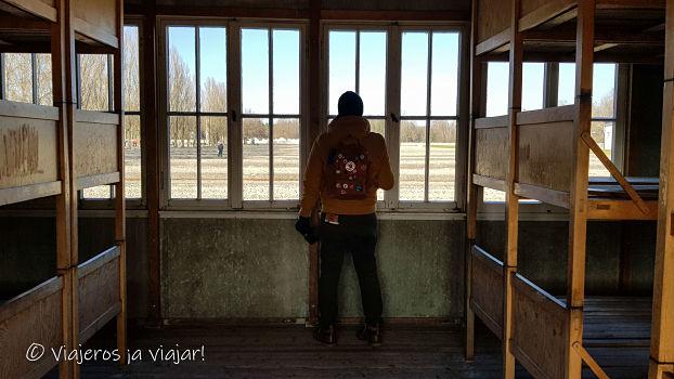 dormitorio del campo de concentración